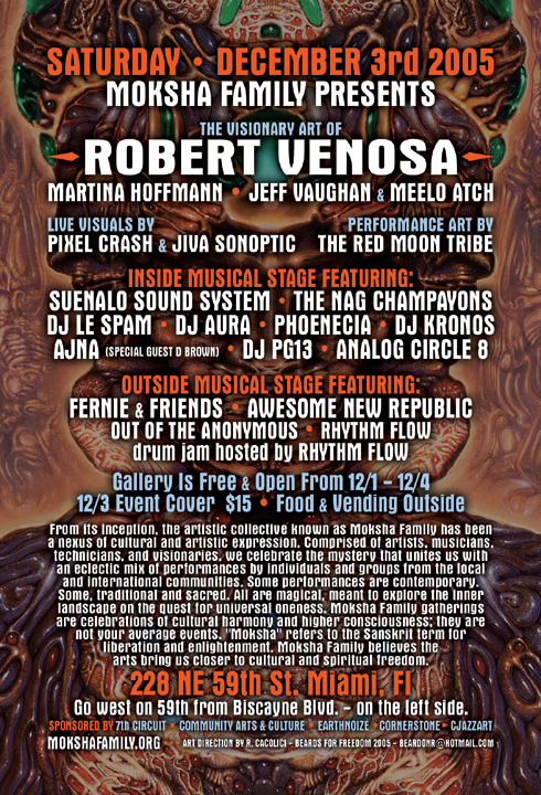 Moksha Family presents Robert Venosa - 2005