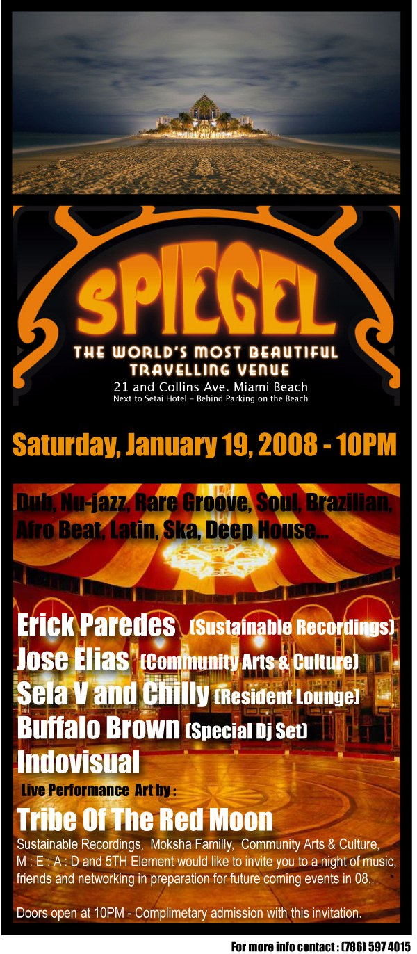 THE MOKSHA FAMILY PRESENTS SPIEGEL WORLD