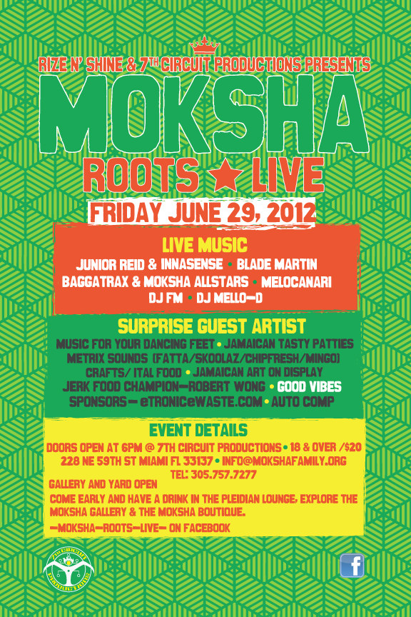 An intimate evening with JUNIOR REID! Moksha Roots Live SPECIAL EVENT!