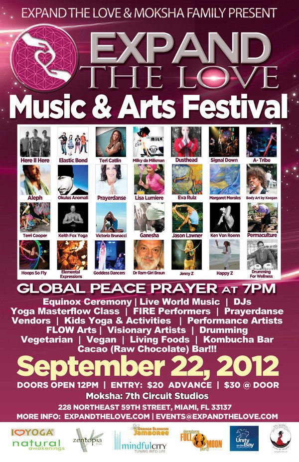 Expand The Love Music and Arts Festival - Saturday September 22, 2012 @ 7th Circuit Studios