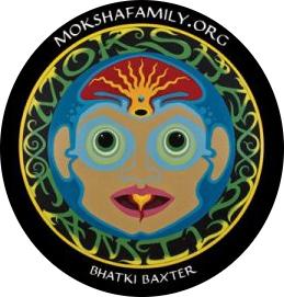 Bhakti Moksha Symbol Sticker